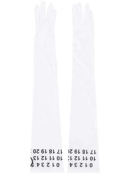 Перчатки в полоску белый Mm6 Maison Margiela