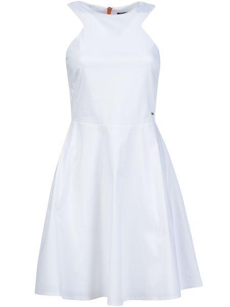 Хлопковое платье - белое Armani Exchange