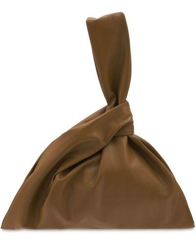 Кожаная сумка Nanushka