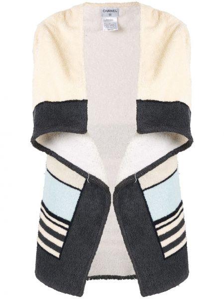 Top bez rękawów w paski bawełniany Chanel Pre-owned