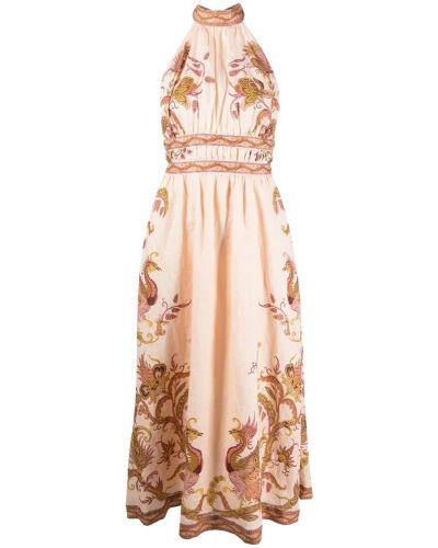 Beżowa sukienka Zimmermann