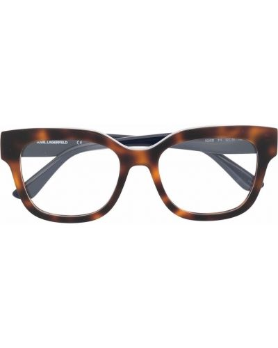 Коричневые очки прозрачные Karl Lagerfeld