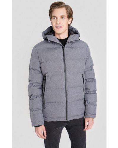 Серая теплая зимняя куртка O'stin