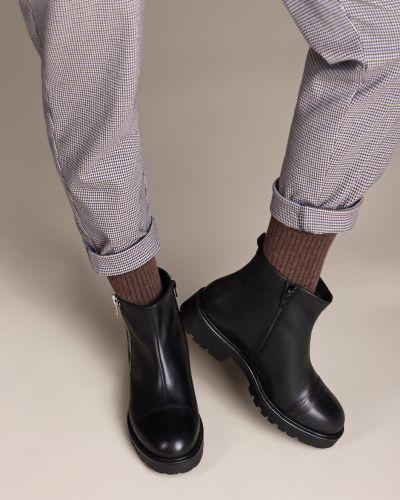 Черные кожаные ботинки на каблуке Vagabond