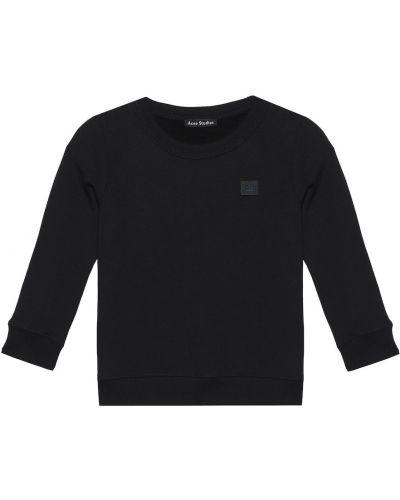 Czarna bluza bawełniana Acne Studios Kids