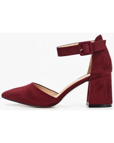 Туфли на каблуке бордовый замшевые Rio Fiore