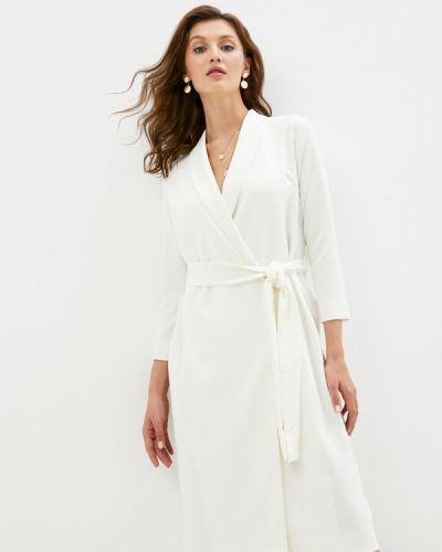 Белое платье с запахом Trendyangel