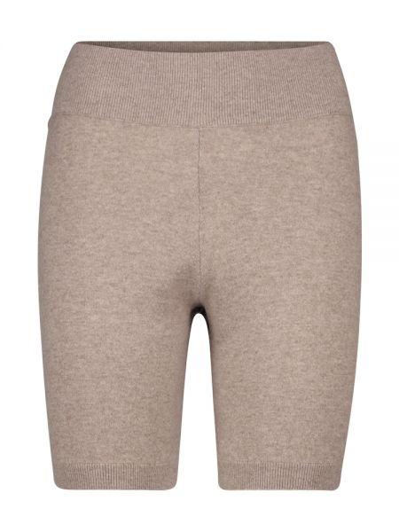 Мягкие кашемировые бежевые шорты Frame