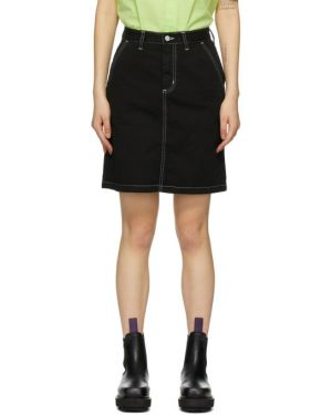 Bawełna bawełna czarny spódnica z kieszeniami Carhartt Work In Progress