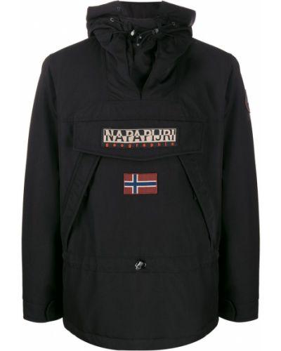 Длинная куртка с капюшоном с логотипом Napapijri