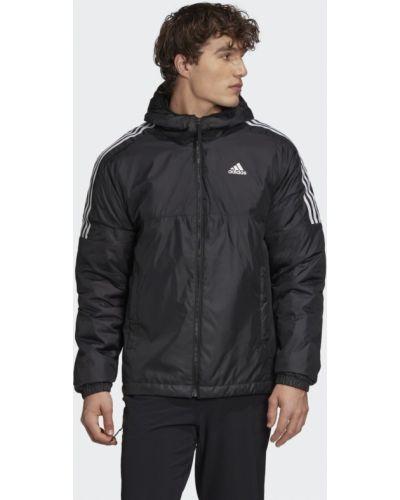 Деловая черная утепленная куртка Adidas