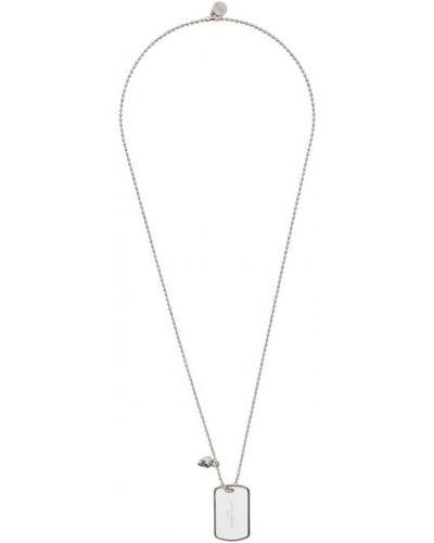 Бальное серебряное ожерелье для полных Alexander Mcqueen