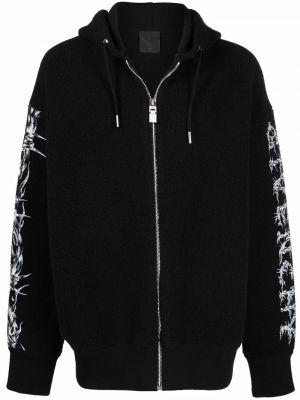 Черное худи длинное Givenchy