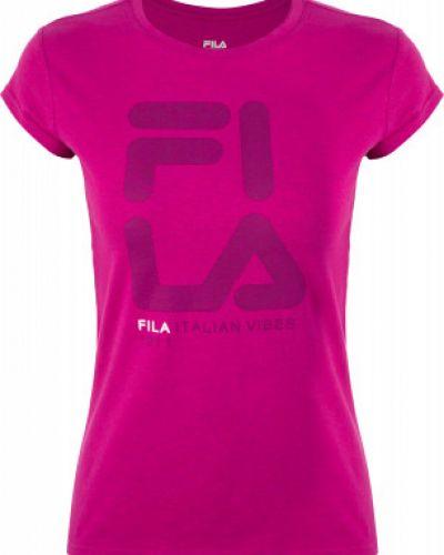 Спортивная футболка приталенная хлопковая Fila