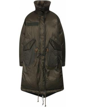 Куртка нейлоновая зеленая Sacai