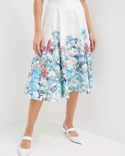 Юбка широкая белая Yuna Style