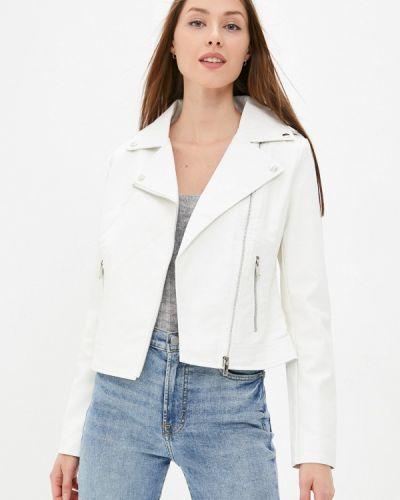 Белая кожаная кожаная куртка Softy