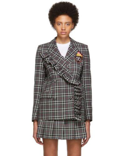Пиджак черный в полоску Msgm