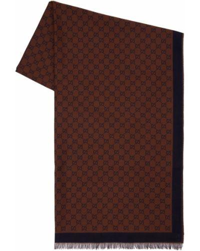 Bawełna brązowy bawełna etola Gucci