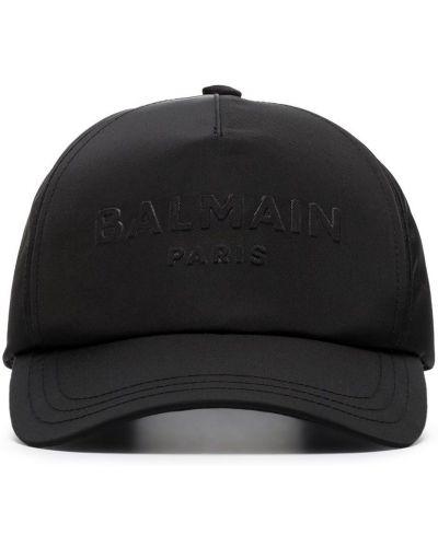 Z paskiem bawełna bawełna czarny czapka z daszkiem Balmain