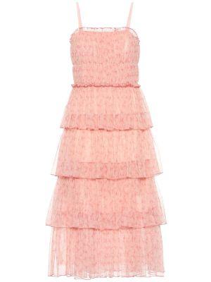 Платье мини розовое из фатина Jonathan Simkhai