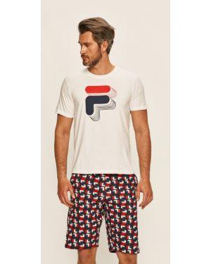 Piżama bawełniana - biała Fila