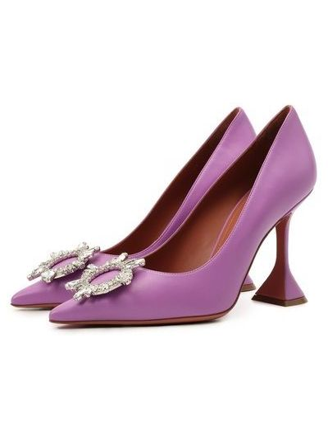 Сиреневые французские туфли Amina Muaddi