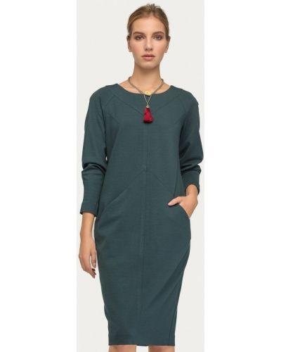 Платье осеннее зеленый Stimage