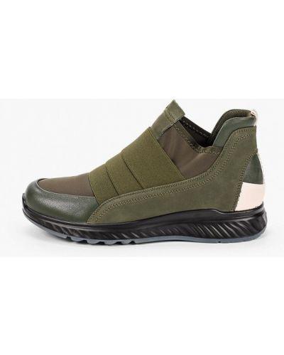 Кожаные ботинки - зеленые Kari