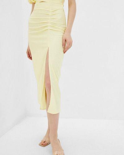 Желтая юбка узкого кроя 7arrows