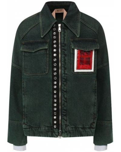 Хлопковая джинсовая куртка - зеленая No. 21