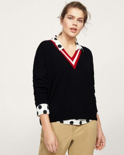 Черный пуловер Violeta By Mango