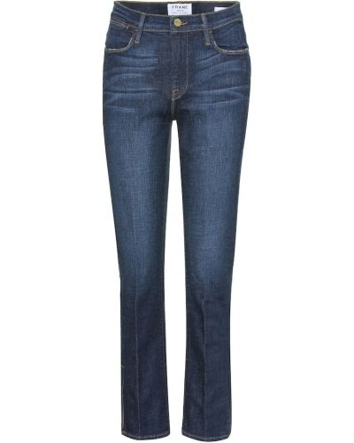 Прямые джинсы укороченные mom Frame