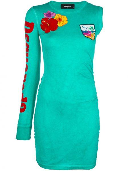 Платье с рукавами с вырезом Dsquared2