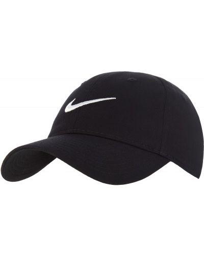Хлопковая черная бейсболка Nike