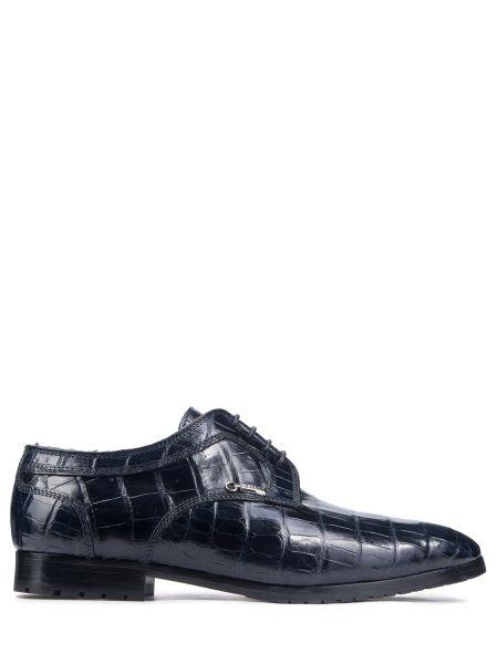 Кожаные туфли из кожи крокодила на шнуровке Zilli