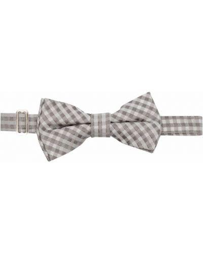 Biały krawat z jedwabiu z printem Woolrich Kids