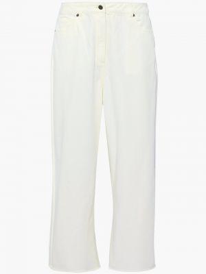 Białe mom jeans z paskiem Zimmermann