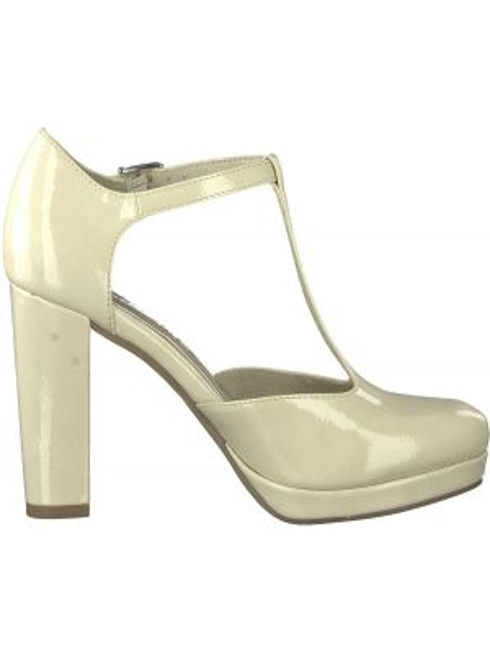 Туфли на каблуке на широкую ногу лакированные Tamaris