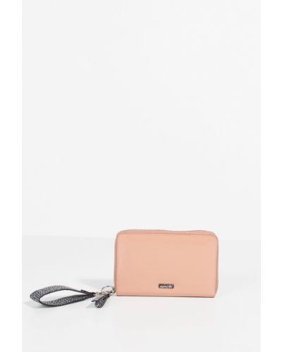 Розовый кожаный кошелек Parfois