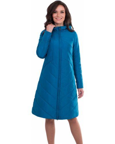 Пальто с капюшоном трапеция на молнии J-splash