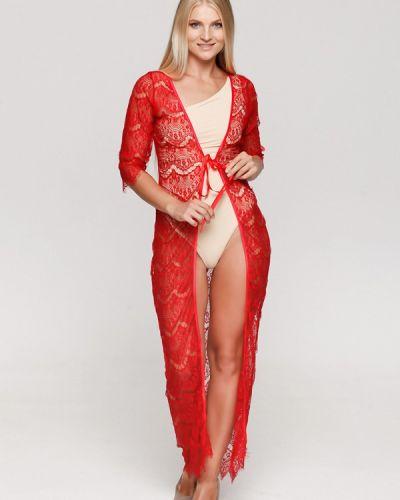 Пляжное платье красный осеннее Karree