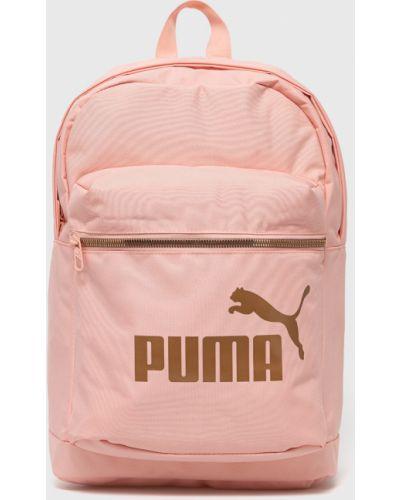 Różowy plecak z printem Puma