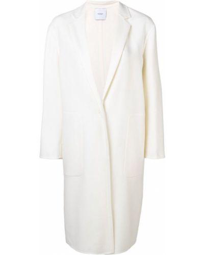 Однобортное длинное пальто с капюшоном на пуговицах Agnona