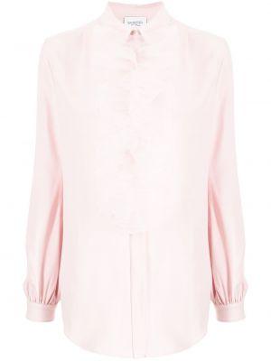 Różowa koszula z długimi rękawami Giambattista Valli