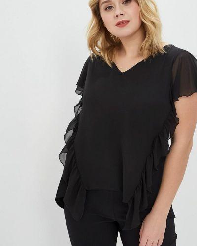 Блузка весенний черная Over