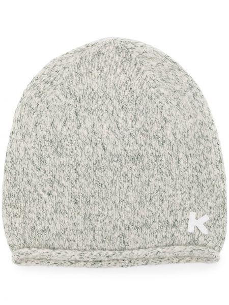 Шерстяная шапка бини - серая Kenzo