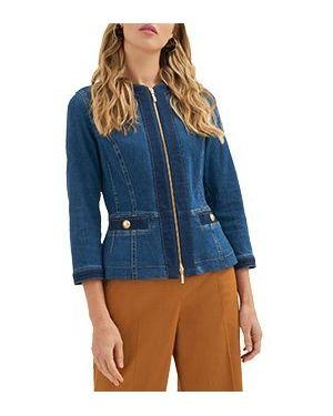 Хлопковая синяя джинсовая куртка Luisa Spagnoli
