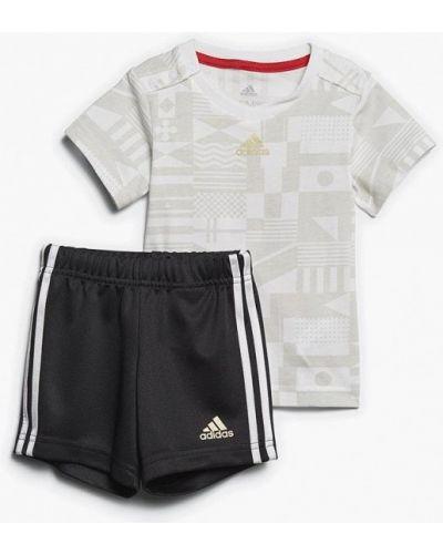 Спортивный костюм черный белый Adidas