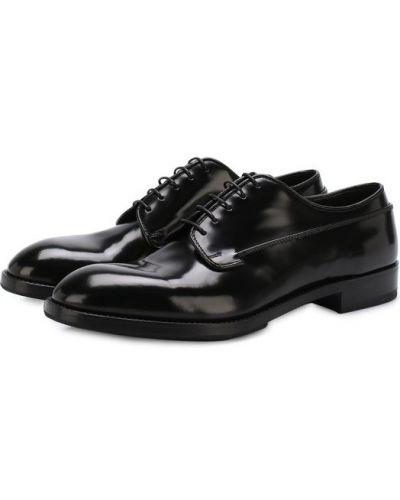 Черные кожаные туфли Premiata
